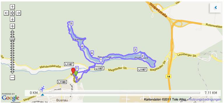 Idyllischer Lauf um die Bärenseen in 0711